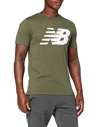 New Balance Camiseta clásica hombre, Hombre, Camiseta, MT03919, Oliva Ejército, M