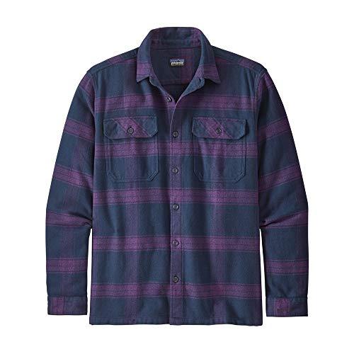 Patagonia M's L/S Fjord Flannel Shirt für Herren L Wurzelholz/Lila