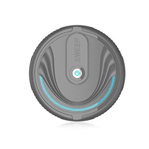 Robot de Barrido Inteligente Máquina de Limpieza automática para el hogar Máquina de Limpieza para aspiradora Inteligente Perezosa Mini (Color: Negro)