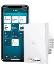 Meross Smart lichtschakelaar, compatibel met HomeKit, wifi-wandschakelaar, 1-weg 1 versnelling vereist nulgeleider, compatibel met Siri, Alexa, Google Home en SmartThings, 2,4 GHz