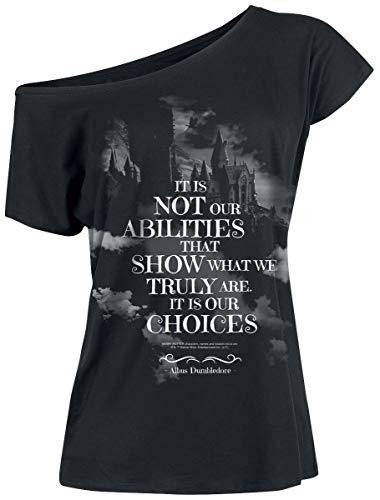 HARRY POTTER Choices Donna T-Shirt Nero XXL 100% Cotone Largo