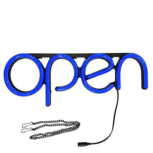 FLOX Öffnen Sie Neonschilder LED-Licht Ultra Bright mit hängender Kette Plug & Play Welcome Shop Sign Neon Hang Display Fensterbeleuchtung für Wände, Restaurant, Café, Bar, Büro, Business, Hotel
