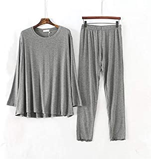 NYKK ملابس نوم نسائية فضفاضة شكلية قطنية ملابس منزلية طويلة الأكمام الخريف الشتاء منامة النساء كبيرة الحجم السيدات ملابس ن...