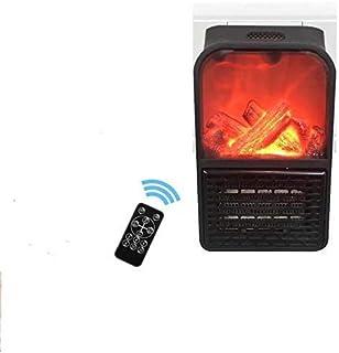 NiLeFo Termoventiladores,Calefactor de Espacio Portátil Calentador Electrico,Calefactores Cerámicos,con El Termóstato Ajustable, Apagado Automático, para El Hogar/La Oficina(Negro(Llama))