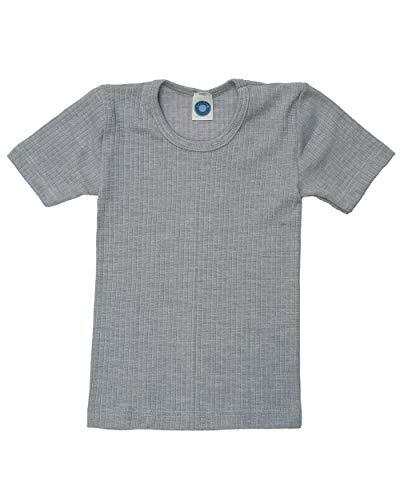 Cosilana Kinder T-Shirt, Uni Grau meliert, Gr. 116
