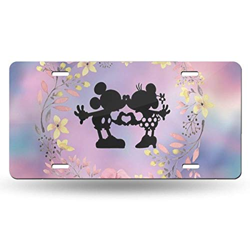 Suzanne Betty Aluminum License Plates - Lovely Mickey Mouse License Plate Tag Car Accessories 12 X 6 Inches