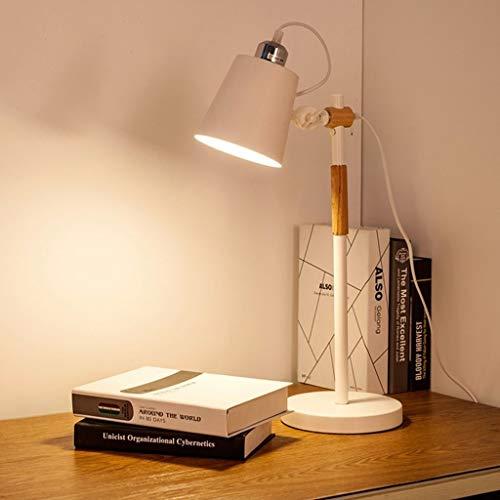 Pyrojewel moderno Lámparas de mesa, personalidad simple nórdica de madera Lámpara de lectura LED, lámpara de ojos, dormitorio de noche las luces de la manera creativa Cosy Den luz de la noche de lectu