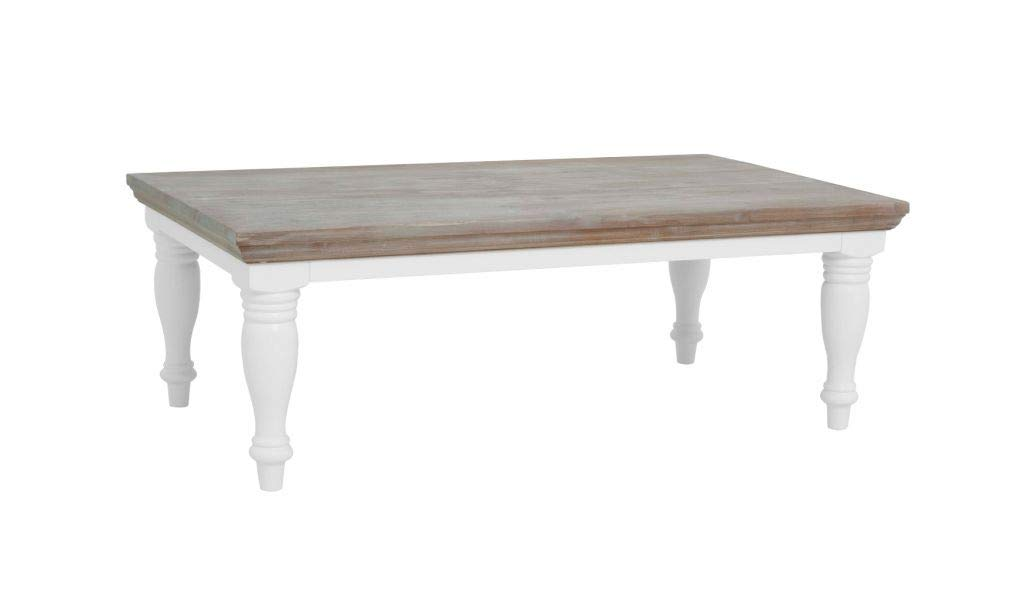 Tavolino Tavolino da Caff/è Tavolino da Soggiorno in Stile Scandinavo 80 cm, Bianco Opaco Vero Wood
