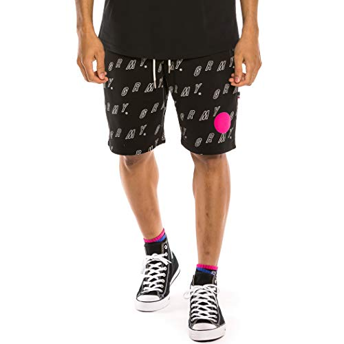 GRIMEY Bermuda Urmah Dojo All Over Print Sweatshorts SS20 Black-M