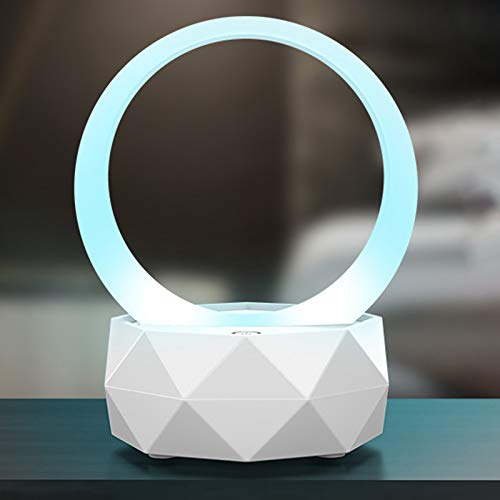Bluetooth Lautsprecher Lampe, LED Nachttischlampe Tischlampe mit 3-Fachem Dimmbarem und 7 Wechselnden FarbenTragbar Musik Nachtlicht, Geschenk für Frauen Männer Kinder, Party