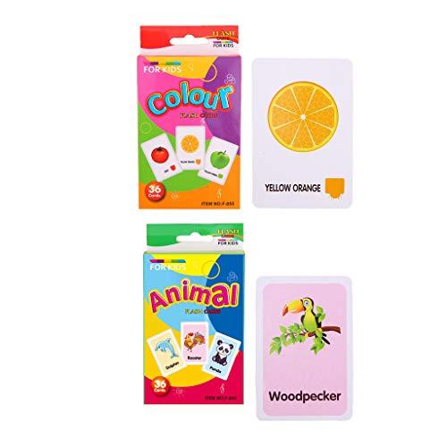 F Fityle Kinder Vorschule Englische Lernkarten Wortkarten Bildkarten, Auswahl - B