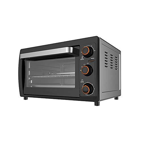 PULLEY-S Horno eléctrico Mini con Light- Multi Función Cocinar & Grill, Temperatura Ajustable Control, Temporizador, extraíble miga Bandeja 26L 1200W S