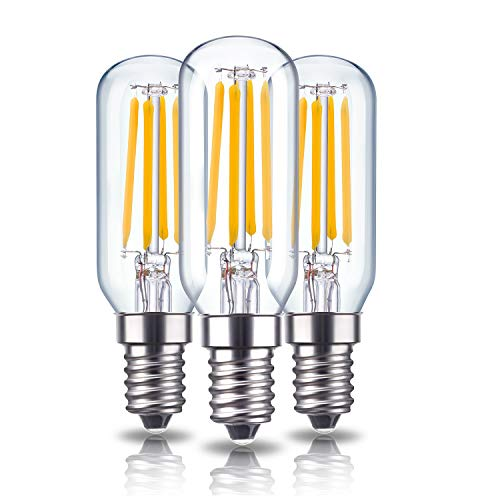 Rayhoo E12 Dimmable LED Candelabra Light Bulbs 4W 110V Edison Light Bulb, T6 T25 Tubular Shape 400LM, 40W Incandescent Replacement, 2700K Warm White, 3 Pack
