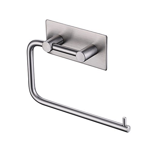 KES Self Adhesive Toilet Paper Holder Stainless Steel Tissue Paper Roll Towel Holder RUSTPROOF Brushed Finish, A7070-2