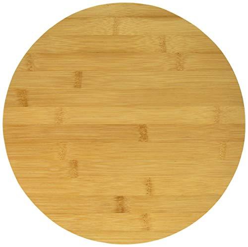 LANSH Bamboo Lazy Susan 12-Inch Rotating Serving Tray/Cabinet Organizer