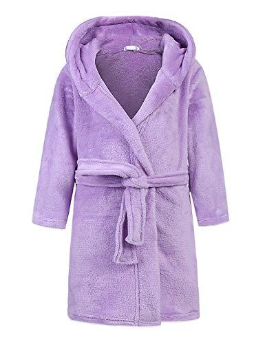 Bricnat - Albornoz para niña/niño, con capucha, diseño de