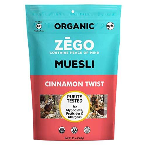 ZEGO Foods Organic, Superfood Oatmeal & Muesli, Certified Gluten Free (Cinnamon Twist) 13oz