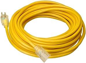 Wideskall Heavy Duty 14 Gauge UL Listed SJTW Outdoor Lighted Extension Cord (Yellow) (15 Feet)