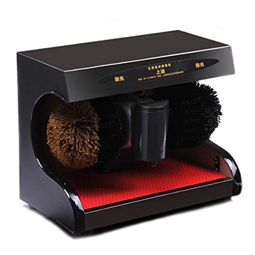 Pulidora eléctrica de zapatos limpieza automática acero inoxidable + material de madera...