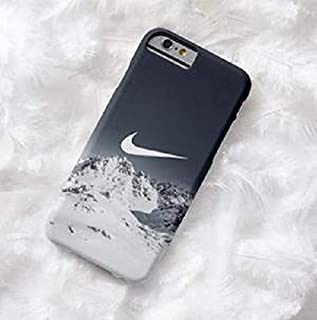 Inspired by Nike Tempered Glass Shockproof Anti Scratch Slim Fit Case for iPhone 7, 8, 7 Plus, 8 Plus, X, Xs, XR, XS MAX Snowboard Snow Mountain (iPhone XR)