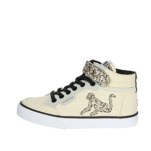 DrunknMunky Sneakers Alte con Lacci Elastici e Velcro Oro, 33 MainApps