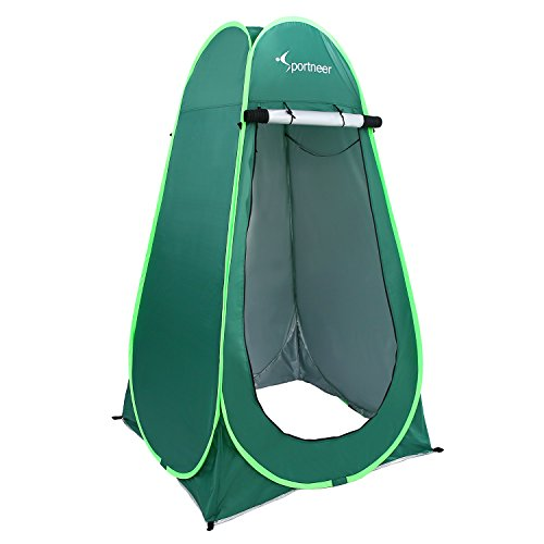 Sportneer 6.25' Portable Pop Up Changing Dressing Room Tent W/Carrying Bag for Camping Photo Shoot, Green