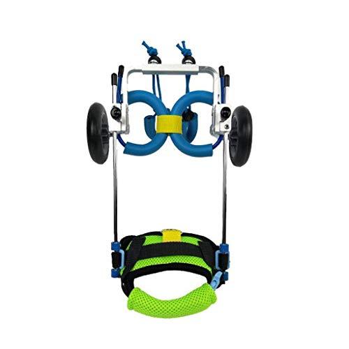 Dog Wheelchair for Back Legs Dog Wheelchair, Best Friend Agility Equipment for Dog Mobility Harness,Rear Support Wheelchair, 2-Wheel Adjustable Cart Pet/Cat Dog Wheelchair Hind Leg Rehabilitation for