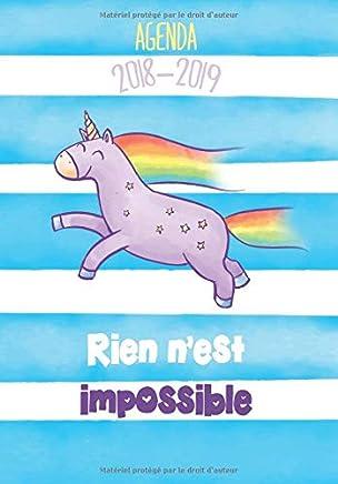 Agenda 2018-2019 Rien nest impossible: Agenda Scolaire de ...