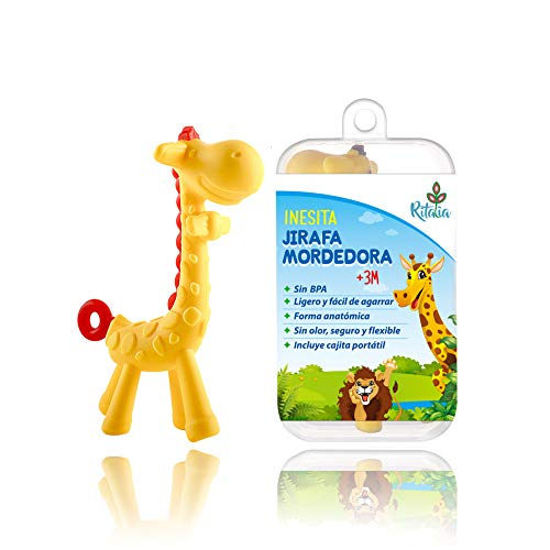 Inesita la jirafa mordedora. Juguete con caja regalo. Mordedor Ritalia....