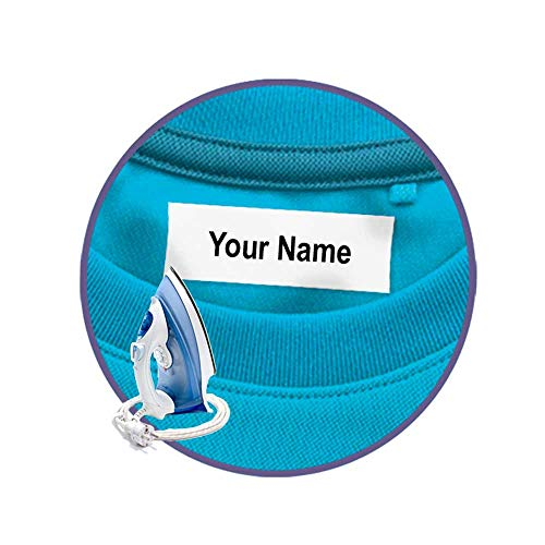 Iron On Labels for Clothing, Personalized with Your Name (Qty.100)