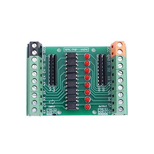 Optoacoplador módulo de aislamiento, 8CH Optoacoplador Junta de aislamiento DC 12V-24V 8-Channel PNP NPN convertidor de señal de salida de alto nivel bajo
