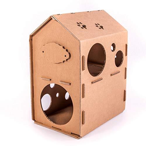 Smart Balance Casa de cartón para gatos, muebles de auto ensamblaje DIY mascota interior