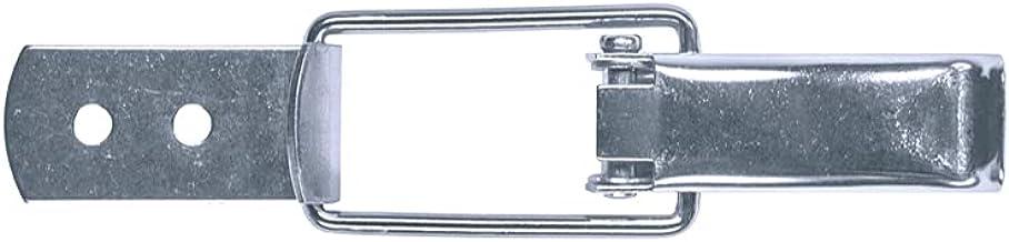 GOEBEL® - 100 stuks - spansluiting 50 kleine kapslot zelfsluitend met rechte bodemplaat incl. tegenhaak roestvrij staal A2...