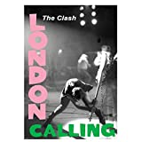 DNJKSA The Clash London Calling Music Poster Leinwanddruck