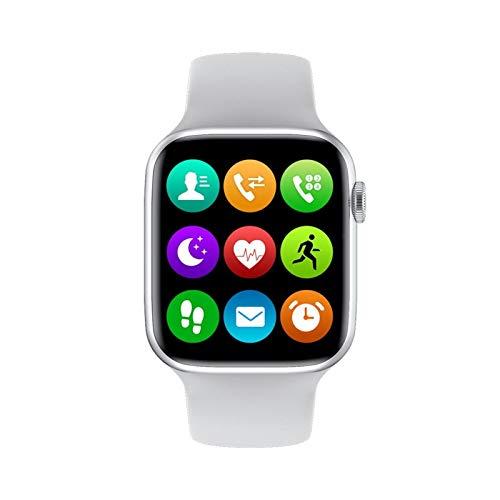 GYY Smart para Apple Watch IP68 Rose 40mm 44mm Series 6 1.75 Pulgadas Llamada Bluetooth SmartWatch Tasa del Corazón PK IWO12 Q99 H55 (Color : White, Size : L134mm)