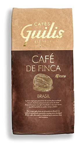 CAFES GUILIS DESDE 1928 AMANTES DEL CAFÉ - Café de Brasil en Grano Arábica Tueste Natural Finca Icatu Minas Gerais 1 kilogramo