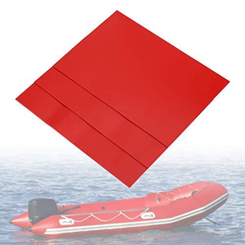 Yosoo Health Gear Inflatable Boat Repair Kit PVC 3pcs PVC Waterproof Repair Patches Kit Set Inflatable Boat Repair Patches for Inflatable Raft Boat Canoe KayakRed