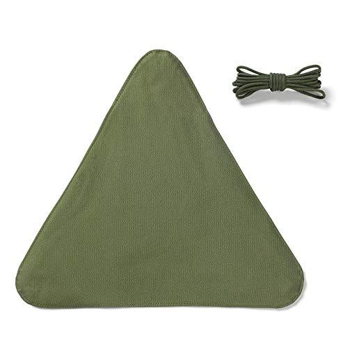 MAJFK Triángulo Camping taburete de tela portátil plegable resistente al agua nylon al aire libre taburete accesorios viaje senderismo jardinería suministros