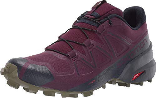 SALOMON Women's Speedcross 5 W Hiking Shoe, Potent Purple/Ebony/Burnt Olive, 7.5