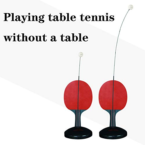 Review XUE Table Tennis Bats, Single Ping Pong Bat Professional Table Tennis Trainer Training Set fo...