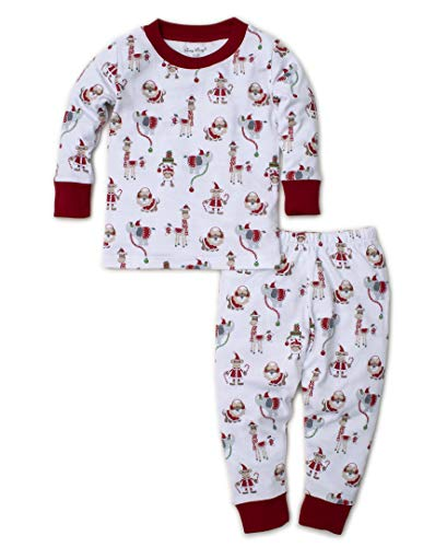Kissy Kissy Unisex-Baby Infant Jungle Christmas Print Long Pajamas Set-Multicolored-12-18 Months