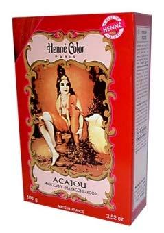 Henna Färbepulver Mahagoni Acajou 100g von Dragonspice Naturwaren