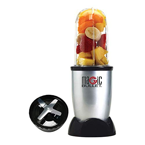 Nutribullet MBR-0328 Standmixer, 0,53 l, kompakt, hohe Geschwindigkeit, für Smoothies von Obst und Gemüse, BPA-freier Kunststoff, 200 W, spanisches Rezept, spülmaschinenfest, Grau