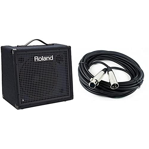 Roland KC-200 4 Channel Mixing Keyboard Amplifier, 100-Watt & CBI MLC LowZ XLR Male...