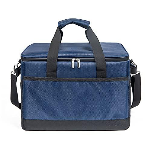 Ledph KüHltasche Einkauf, Bierkasten KüHltasche, KüHltasche Einkaufstasche, Cool Bag für Lebensmitteltransport Erwachsene Kinder Arbeit, Blau,35l