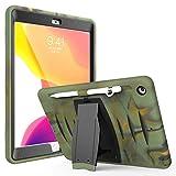 Jennyfly iPad Mini 5 Rugged Case, Shockproof Hard Rugged Durable 3-Layer Protective Kid