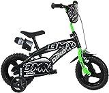 Bicicletta Dino Bikes BMX Nero/Verde 12 Pollici