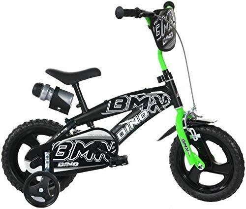Dino Bikes Bicicletta 12' BMX Nero-Verde - Bici Bambino