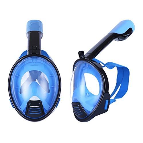 KDAQO Kleines Gesicht Taucherbrillen des neuen Kinder und Männer Tauchmasken wasserdichte Masken Silikon Chemische Masken Schwimmen Masken (Color : Blue)