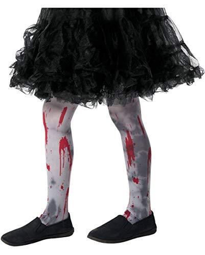 Horror-Shop Zombie Kinderstrumpfhose für Halloween